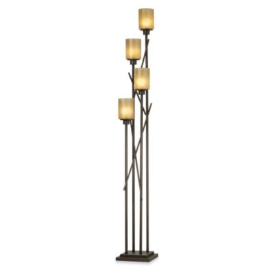 Kathy Ireland Home City Crossings 4-Light Uplight in Bronze