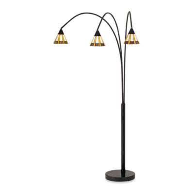 Pacific Coast Lighting Archway 3-Light Floor Lamp in Bronze with Art Glass Shades