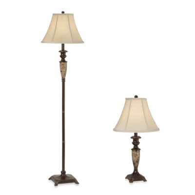 Brass Lamp Set