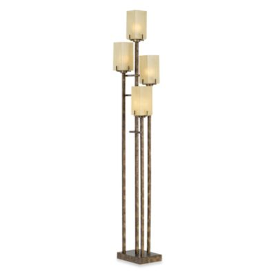 Kathy Ireland Home City Heights 4-Light Floor Uplight