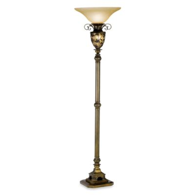 Kathy Ireland Home Southern Dogwood Torchiere Floor Lamp