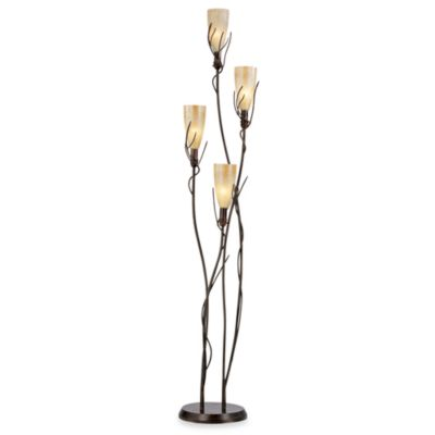 Pacific Coast Lighting® El Dorado 4-Light Floor Uplight Torchiere in Metal with Rust Finish
