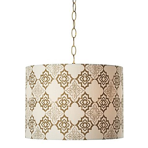 Pacific Coast Lighting Granada Swag Pendant Light with Polished Brass Finish