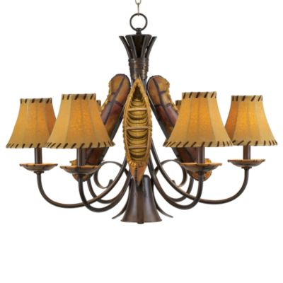 Pacific Coast Lighting® Grand Old River Canoe 6-Light Chandelier in Pueblo Rust Finish