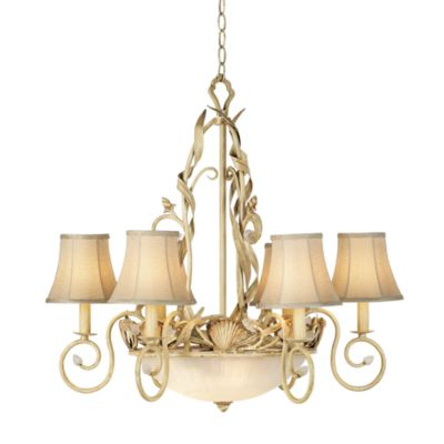 Kathy Ireland Home Sandy Beach 6-Light Chandelier