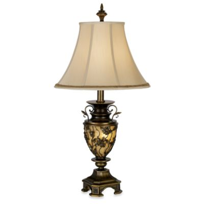 Kathy Ireland Home Southern Dogwood Table Lamp with Nightlight