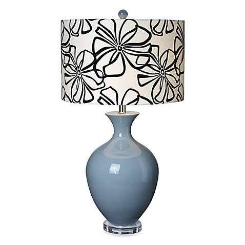 Pacific Coast Lighting Hanford Smoke Blue Table Lamp
