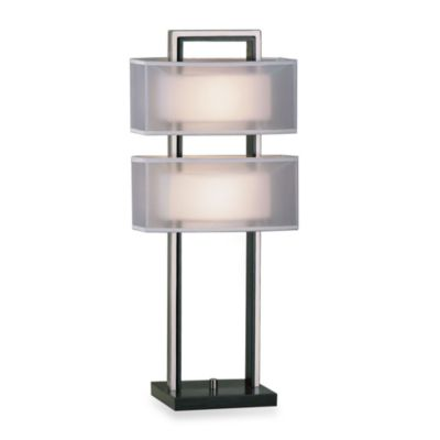 NOVA Lighting Amarillo 28-Inch Silver Accent Table Lamp