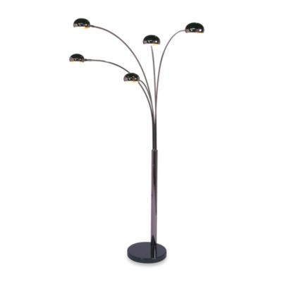 nova lighting mushroom 83 five light arc floor lamp. Black Bedroom Furniture Sets. Home Design Ideas