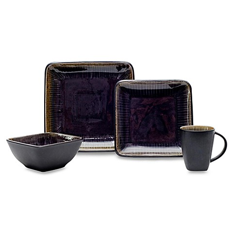 zen plum 16 piece dinnerware set bed bath beyond. Black Bedroom Furniture Sets. Home Design Ideas