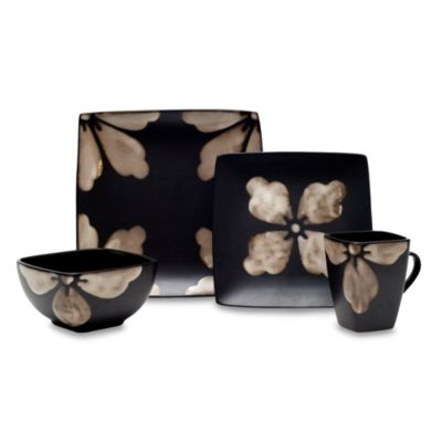 Baum Kasbar Tile 16-Piece Dinnerware Set in Ivory