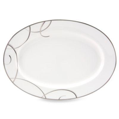 Nikko Elegant Swirl 14-Inch Oval Platter