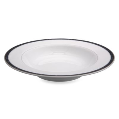 Nikko Perennial Indigo Blue 9-Inch Rim Soup Bowl