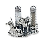 Arthur Court Designs Longhorn Salt & Pepper Shaker Set with Stand