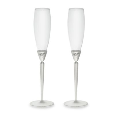 Monique Lhuillier Waterford® Modern Love 8-Ounce Toasting Flutes (Set of 2)