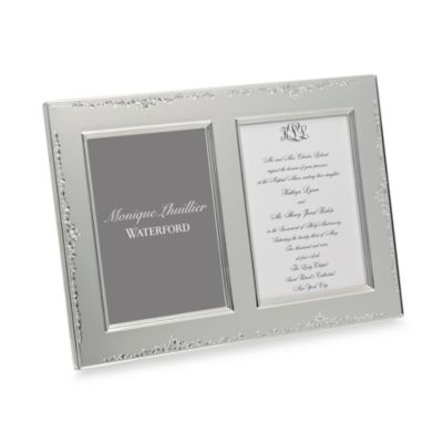 Monique Lhuillier Waterford® Modern Love Double 5-Inch x 7-Inch Invitation Frame