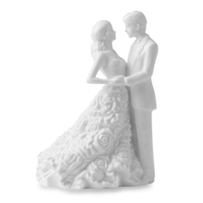 Monique Lhuillier Waterford® Modern Love Bride & Groom Cake Topper