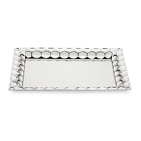 Monique Lhuillier Waterford® Atelier Metal 16-Inch Rectangular Tray