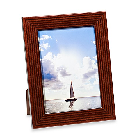 Ricci® Bengale 5-Inch x 7-Inch Wood Picture Frame in Maroon