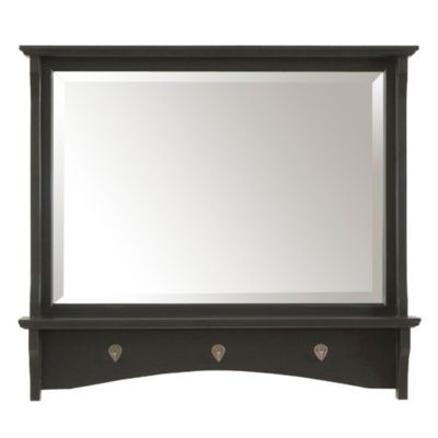 Carolina Cottage Winston Mirror in Antique Black