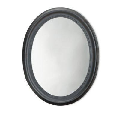 Carolina Chair & Table Oval Mirror in Antique Black