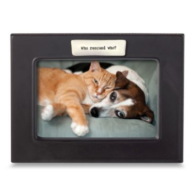Who Rescued Who? 4-Inch x 6-Inch Frame
