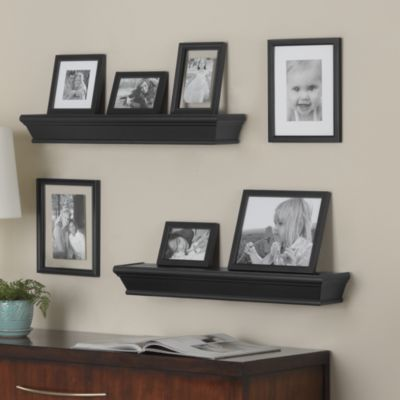 9-Piece Traditional Ledge and Frame Set in Black