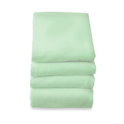 Foundations® SafeFit™ 6-Pack Full-Size Elastic Fitted Safety Sheets in Mint