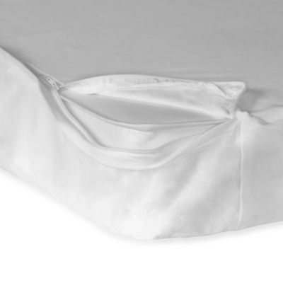 Foundations® SafeFit™ 3-4-Inch Crib Mattress Zippered Full Enclosure Safety Sheet in White