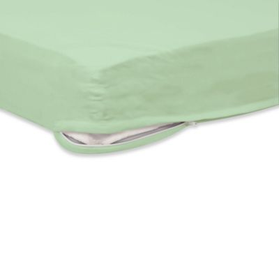 Foundations® SafeFit™ 4-6-Inch Crib Mattress Zippered Full Enclosure Safety Sheet in Mint