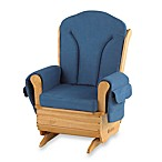 Foundations® SafeRocker™ Adult Glider Rocker Deluxe in Natural/Blue