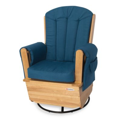 Foundations® SafeRocker™ Adult Glider Rocker Deluxe in Natural/Navy