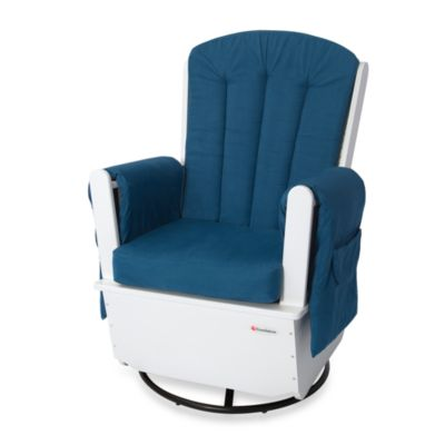 Foundations® SafeRocker™ Adult Glider Rocker Deluxe in White/Navy