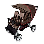 Foundations® The Quad LX™ 4-Passenger Stroller with Dual Folding Canopy in Brown