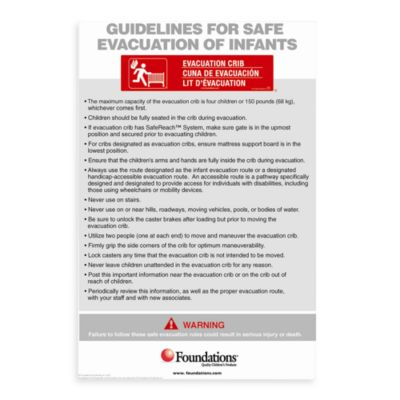 Foundations® First Responder™ Evacuation Protocol Sign
