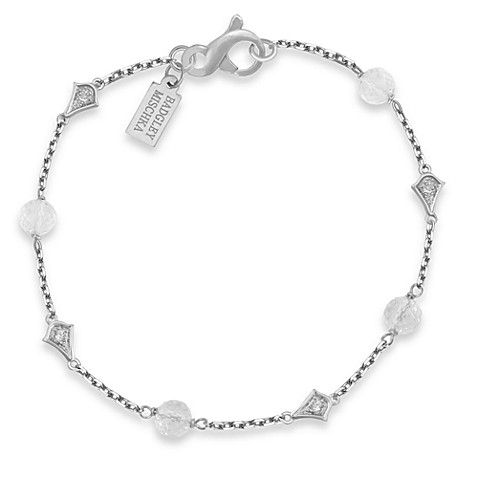Badgley Mischka® The Romantics Sterling Silver White Topaz & White Quartz Bracelet