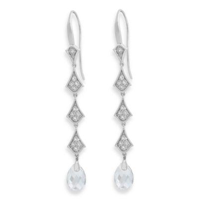 Badgley Mischka White Quartz Earrings