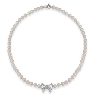 Badgley Mischka® Soft & Sophisticated Pearl Necklace