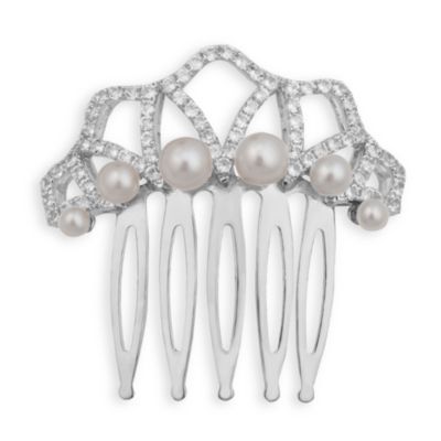 Badgley Mischka® Vintage Elegance Sterling Silver Hair Comb