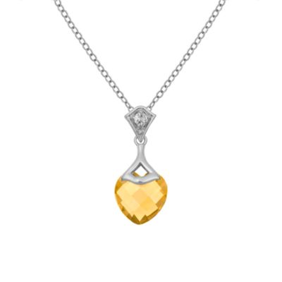 Badgley Mischka® Be-Loved Citrine Pendant