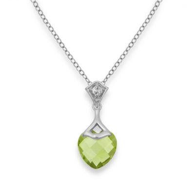 Badgley Mischka® Be-Loved Peridot Pendant & Sterling Silver Chain
