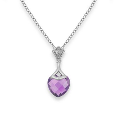 Badgley Mischka® Be-Loved Amethyst Pendant