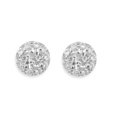 Badgley Mischka® The New Classics White Topaz & Sterling Silver Stud Earrings