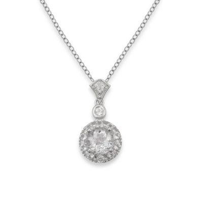 Badgley Mischka® The New Classics White Topaz Pendant