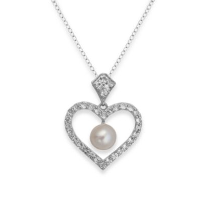 Badgley Mischka® Be-Loved White Topaz & Pearl Pendant