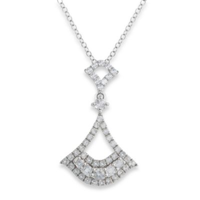 Badgley Mischka® Petal Perfect White Topaz Arabesque Pendant