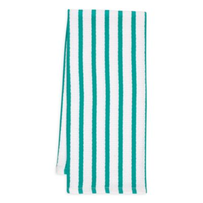 Whim Casserole Kitchen Towel in Teal Stripe