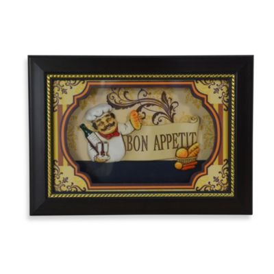 Chef Shadowbox Wall Art