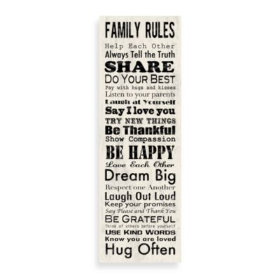 Family Rules 12-Inch x 36-Inch Wall Art