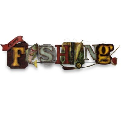 Gone Fishing Metal Wall Art
